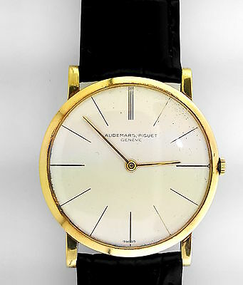 $1799.99 - Vintage Audemars Piguet 18K Gold Cal. 2003 17 Jewel Ultra Slim Watch