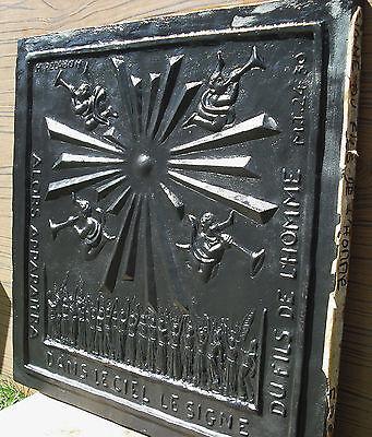 Plate Fireplace Ee the Sign of Son of L'Homme Henri Pelabon Monnaie de Paris