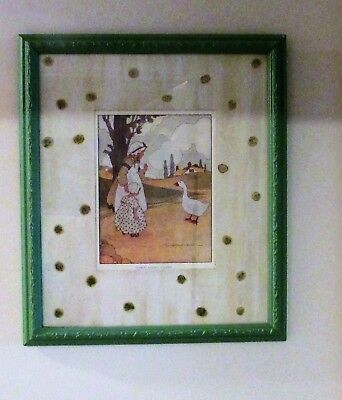 1916 Vintage Blanche Fisher Wright Goosey, Goosey, Gander Print Litho - $80.00