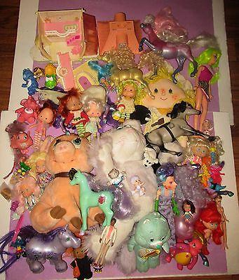 HUGE Vintage 80s 90s Toy Doll Strawberry Shortcake Jem FSF Moon Dreamers Lot