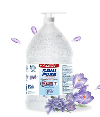 Advanced Hand Sanitizer GEL Natural Aloe & Vitamin E - 1 Gallon with Pump Cap