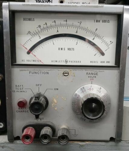 Hewlett Packard 403B RMS Voltmeter DB Meter