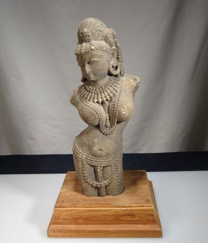 Ancient Hindu Sandstone Devi Goddess Figure Sculpture  -  57222