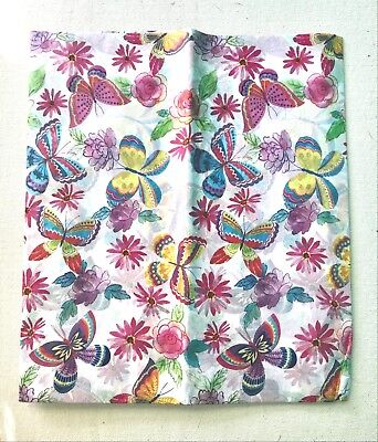 BUTTERFLIES Tissue Sheet for Decoupage Paper Crafts Flowers Floral Spring (Craft Tissue Paper)