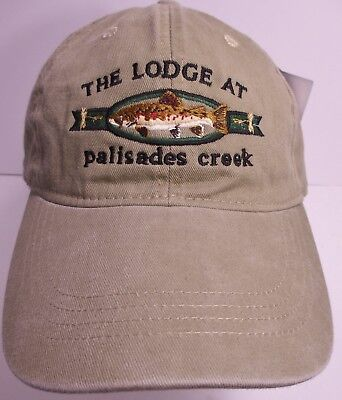 Palisades Creek Lodge Hat Cap Fly Fishing Resort Usa Embroidery Prefade  New