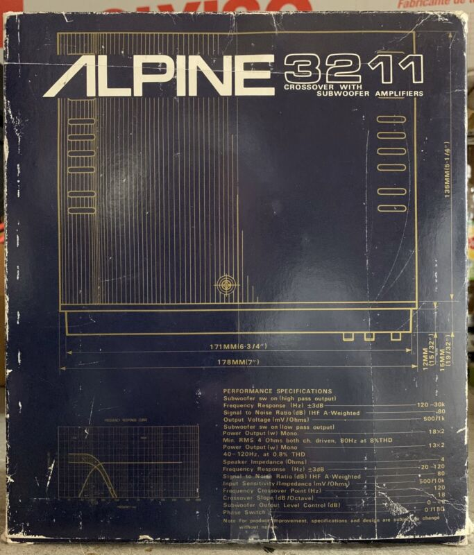 New OLD SCHOOL Alpine 3211 Active Dividing Network,ULTRA RARE,NOS,NIB