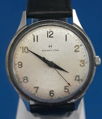 Mens Stainless Steel 17 Jewels Hamilton Watch.FREE 3 DAY PRIORITY SHIPPING.