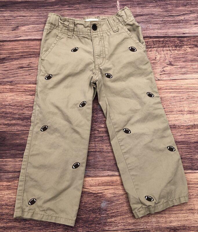 Boys Toddler Gymboree Classic Fit Khaki Pants Football Size 3T EUC