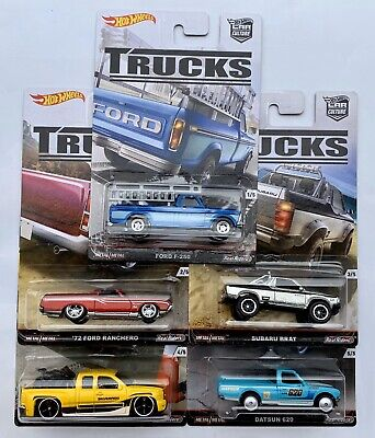 Hot Wheels Car Culture Trucks Ford F-250 Ranchero Subaru Datsun 620 Silverado