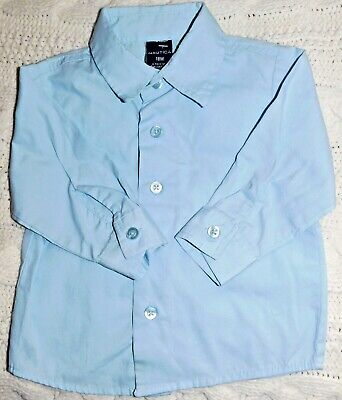 Toddler Boys Nautica Dress Easter Shirt  Size 18 M