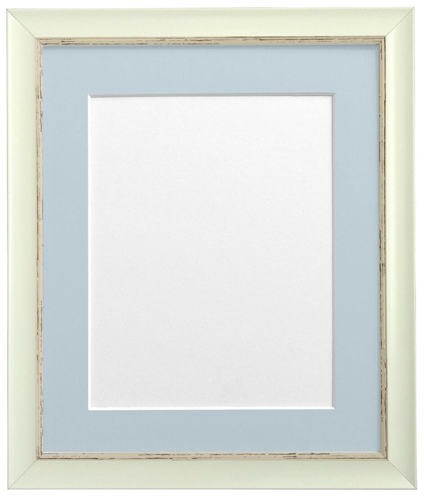 Distressed White Nordic Picture Photo Frames with Acid Free Mounts ...