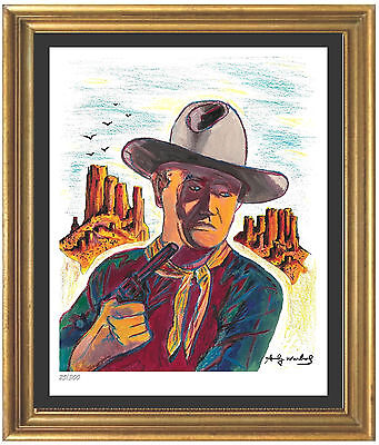 "Andy Warhol Signed/Hand-Numbered Ltd Edition ""John Wayne"" Litho Print (unframed)"