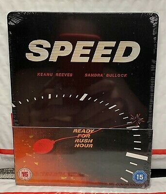 NEW SPEED BLU-RAY STEELBOOK! UK ZAVVI EXCLUSIVE! FACTORY SEALED IN SHRINK WRAP