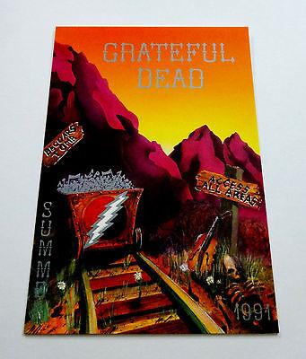 Grateful Dead 1991 Summer Tour Laminate Art UJB Access All Areas Postcard 2000