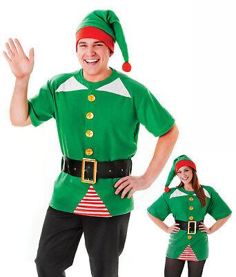 Unisex Mens Ladies Jolly Elf Pixie Christmas Xmas Fancy Dress Costume Kit   ()