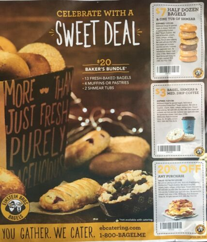 Einstein Bros. Bagels Caribou Coffee Bagels Sandwich 4 - $2.99