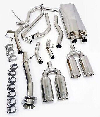 Stainless OBX Dual Cat. Back Exhaust System for 2003-06 HUMMER H2 6.0L SUV/SUT Duals 2003 Cat Back Exhaust