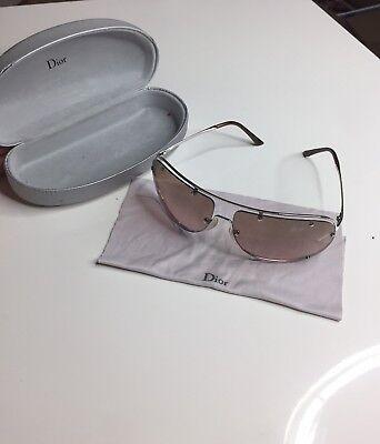 49f77df3d717 Christian Dior Woman Sunglasses Light Pink Tinted Lenses Metal Frame