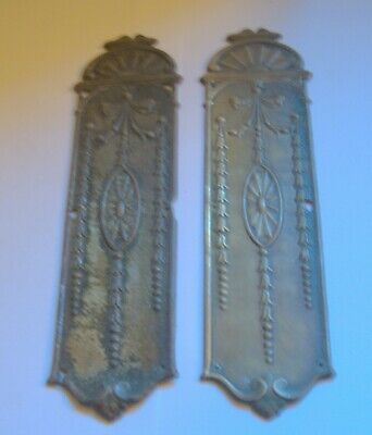 Pair of victorian fingerplates