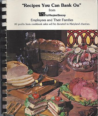 Baltimore Md Vintage First Maryland Bancorp Employees Cook Book Community Bank