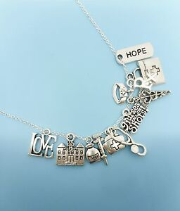 Nurse Charm Necklace Silver Charms Pendants / Jewelry