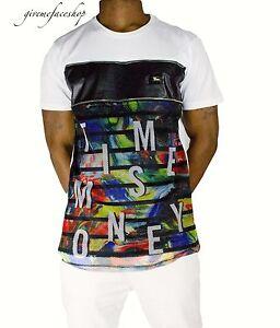 Time-is-Money-graffiti-star-club-t-shirt-urban-hip-hop-g-similpelle-uomo-tees-w