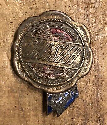Rare Vintage Original CHRYSLER Auto Car Radiator Enamel Grill Badge Emblem