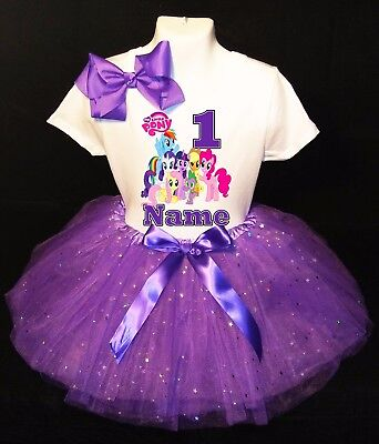 My Little Pony***With NAME***1st First Birthday Purple Tutu Dress Fast Shipping