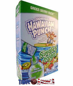 Hawaiian Punch Green Berry Rush Singles To Go Drink Mix 20.6g Box