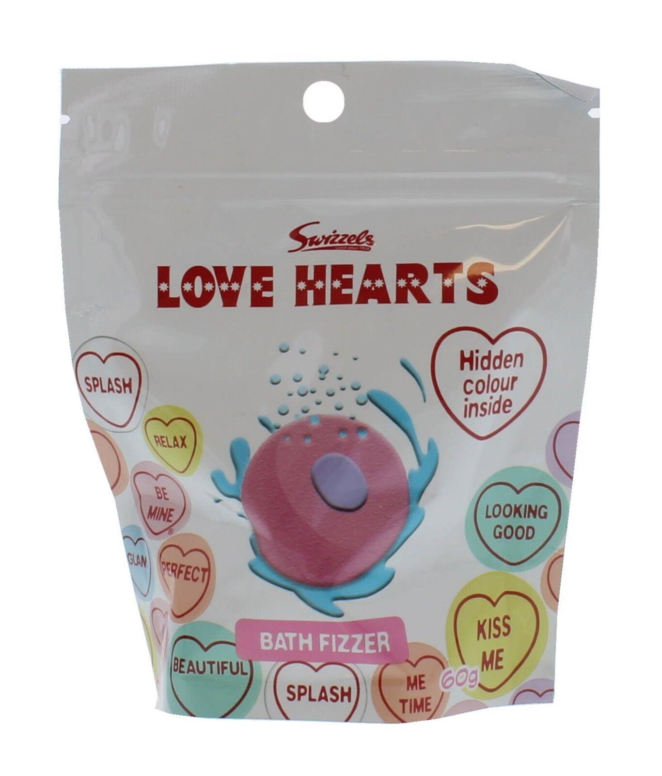Swizzels Love Hearts Bath Bomb Fizzer Pouch - 60g