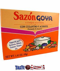 Sazon Goya Con Culantro Y Achiote Seasoning 40g Box Coriander & Annatto