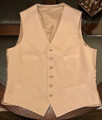 100% Authetic Ralph Lauren Mens VEST Size 40 British Khaki New Made In Portugal
