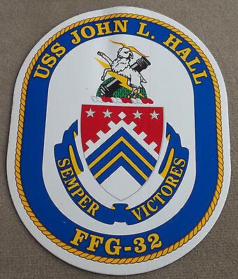 US Navy Decal / Sticker USS John L. Hall FFG - 32
