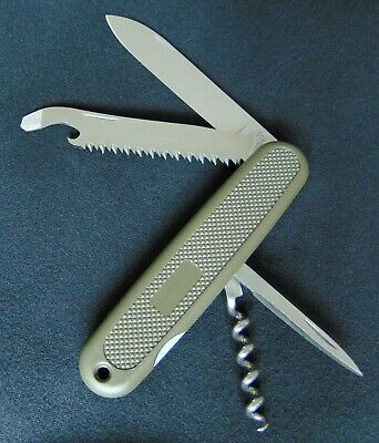 VTG retired 1970s Victorinox Safari Trooper knife 108 mm with pouch NOS