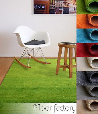 Gabbeh Teppich Karma - handgefertigt aus 100% Schurwolle 8 FARBEN 6 GRÖSSEN - 6' Wolle Teppich