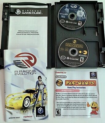 R: Racing Evolution Pac-Man Vs Nintendo GameCube Game Complete With Manuals