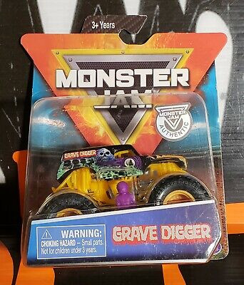 2019 HOT WHEELS MONSTER JAM SPIN MASTER ** GRAVE DIGGER ** ORANGE EDITION