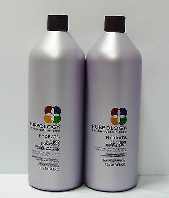 Pureology Hydrate Shampoo and Conditioner 33.8 oz Liter Duo Set Antifade