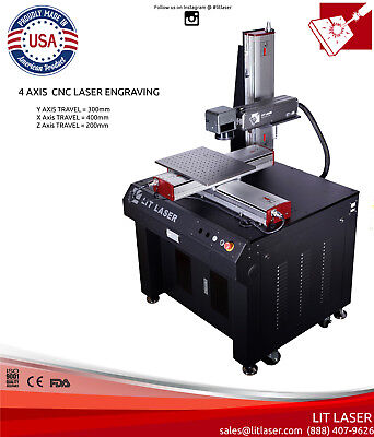 20w 4-axis Cnc Laser Deep Engraving Ipg Photonics