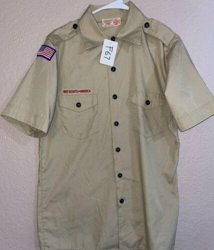 BSA Khaki Youth Short Sleeve Shirt Size X-Large Used 1_F67