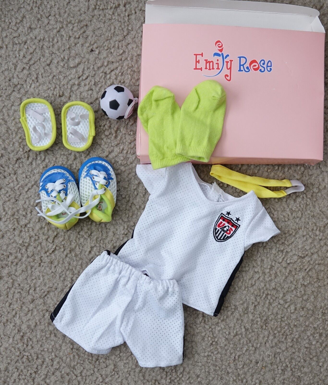 18 Inch Doll Clothes | Team USA-Inspired 8 Piece Soccer Unif