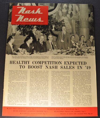 1949 Nash News Brochure Sales Nash Rambler Ambassador Excellent Original 49