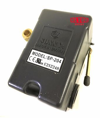 Replacement Air Compressor Pressure Switch Sunny L4 4 Port 95-125 Psi 25 Am
