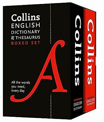 Collins English Dictionary and Thesaurus Boxed Set (Collins Dictiona... NEW BOOK