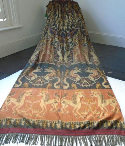 Antique Handwoven Indonesian Ikat Sumba Loom Textile 270cm X 109cm