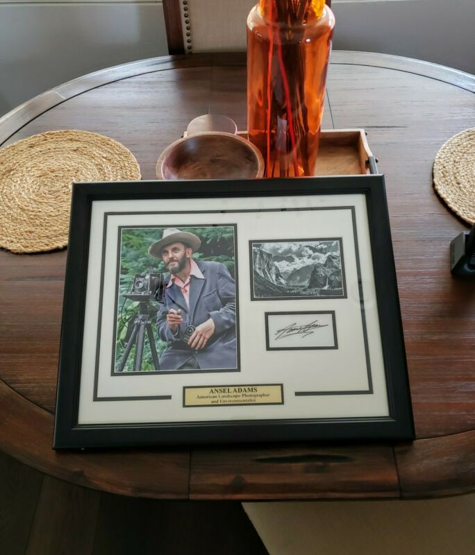 """Ansel Adams  Hand Signed Framed  Yosemite  Photo Display  """"Authentic"""""""
