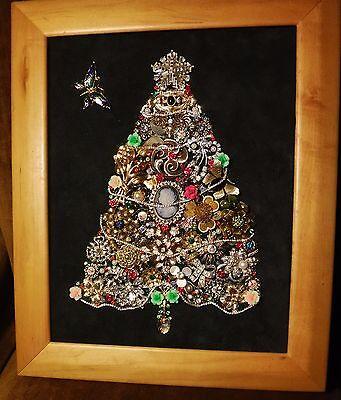 Vintage Jewelry Art Christmas Tree