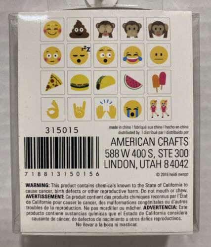 Heidi Swapp MARQUEE Love 3.5 x3.5 Popular Emoji Icons 20 We ll Known Emojis AC - $9.95