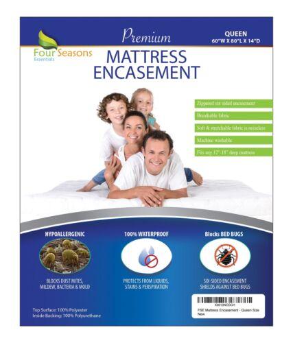 Zippered Mattress Protector - Bed Bug Waterproof Allergy Rel