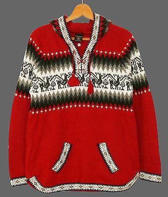 Peru Alpaka Pullover rot, Gr. M,L,XL,XXL, Inka Alpaca Wolle, Lama Ethno Muster online kaufen